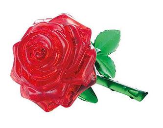 HCM Kinzel - Růže červená: 3D Crystal puzzle 44 dílků