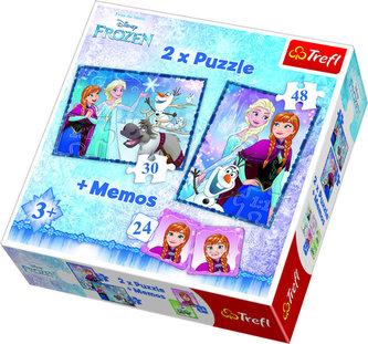 Ledové království: Puzzle 30+48 dílků + pexeso