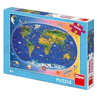 Mapa The World (dětská): puzzle 300XL dílků - neuveden