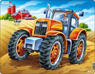 Larsen - PUZZLE MAXI - Americký traktor/37 dílků
