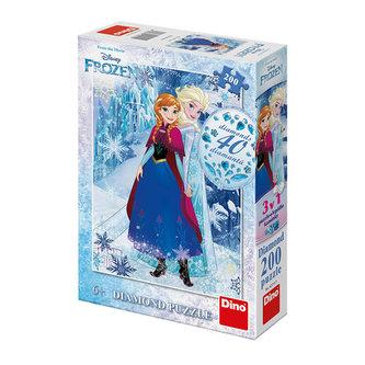 Frozen - Anna a Elsa: diamond puzzle 200 dílků - neuveden