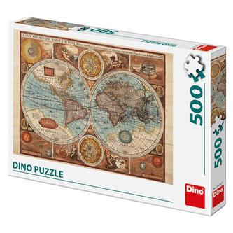 Mapa světa historická: puzzle 500 dílků - neuveden