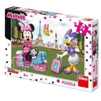 Dino - Minnie v Paříži: puzzle 24 dílků