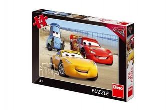 Auta 3 - Na pláži: puzzle 24 dílků - Dino
