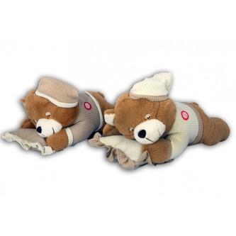 Plyšový medvěd na polštářku chrápající - Alltoys