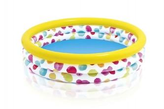 Bazén dětský s puntíky nafukovací 147x33cm 2+ - Teddies