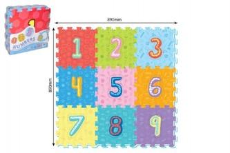 Wiky - Pěnové puzzle číslice 9ks 32x32cm 10m+