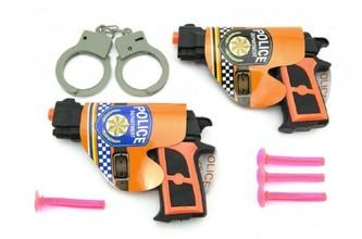 Pistole 2ks s přísavkami + doplňky plast 15cm v sáčku - Teddies