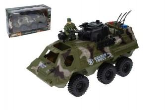 Wiky - Auto vojenské obrněný transportér s doplňky plast 30cm volný chod v krabici 38x22x14cm