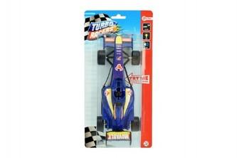 Formule modrá plast 20cm na baterie se světlem se zvukem na setrvačník v blistru - Teddies