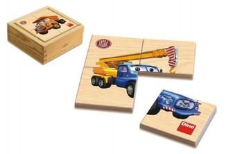 Puzzle dřevěné Tatra 6x4 dílky v krabičce 11x11x4,5cm 1+