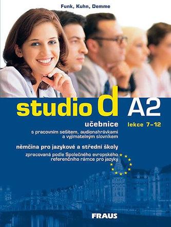 Studio d A2: učebnice (lekce 7-12) s pracovním sešitem, audionahrávkami a vyjímatelným slovníkem. 2007. 196 s. + 1 CD-ROM + brožura (32 s. ; 17 x 24 cm) - Náhled učebnice