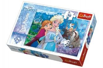 Trefl - Puzzle Frozen/Ledové království 27x20cm 30 dílků v krabičce 21x14x4cm
