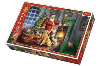 Trefl - Puzzle koláž Vánoce Čas dárků 1000 dílků v krabici 40x27x6cm