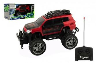 Auto RC terénní plast 30cm na dálkové ovládání na baterie v krabici 37x20x19cm