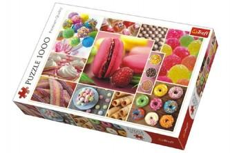 Trefl - Puzzle koláž Candy cukroví 1000 dílků v krabici 40x27x6cm