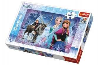 Trefl - Puzzle Frozen/Ledové království Zimní dobrodružství 41x27,5cm 160 dílků v krabici 29x19x4cm