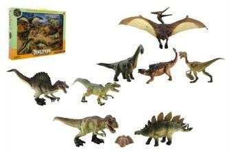 Dinosaurus plast 8ks v krabici 46x34x7cm - Teddies