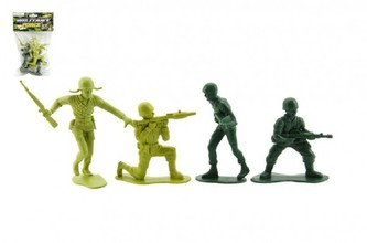 Teddies - Vojáci plast 9cm v sáčku