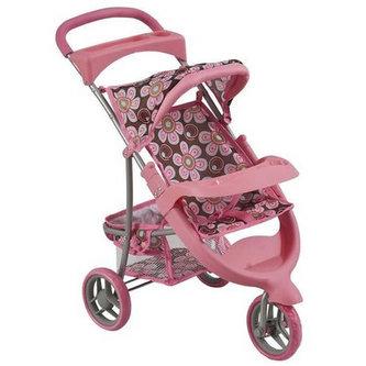 Kočárek pro panenky/růžový - neuveden
