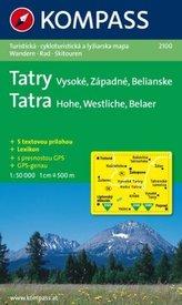 Kompass Karte Tatra - Hohe, Westliche, Belaer. Tatry - Vysoké, Západné, Belianske
