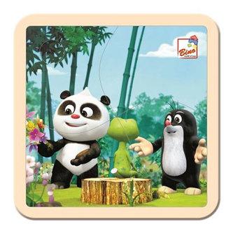 BINO - Krtek a Panda: V lese/puzzle, 4 dílky