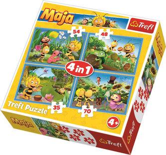 Trefl - Puzzle Včelka Mája 4v1 (35,48,54,70 dílků)