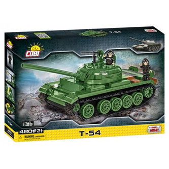 COBI - Stavebnice COBI 2613 Small Army Tank T54, 128/80 kostek+2 figurky