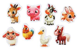 Domácí zvířátka: naučné puzzle 8 zvířátek: 16 dílků - puzzlika