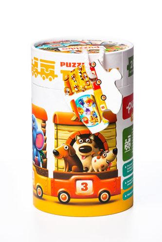 Vlak 94 cm : naučné puzzle 20 dílků - puzzlika