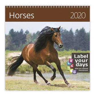 Kalendář nástěnný 2020 - Horses