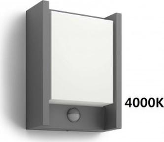 VENKOVNÍ NÁSTĚNNÉ LED SVÍTIDLO S ČIDLEM 16461/93/P3 4000K - Philips