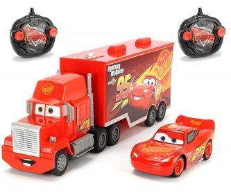 RC Cars 3 Turbo Mack Truck 46 cm, 3kan + Blesk McQueen 1:24, 2kan - Dickie