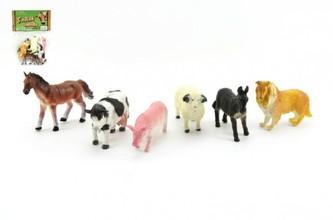 Teddies - Zvířátka domací farma 6ks plast 9cm v sáčku 16,5x27x5cm