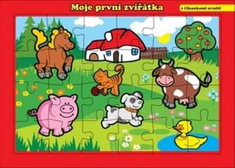 Teddies - Puzzle deskové Moje první zvířátka farma 26x17cm 24 dílků MPZ