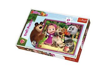 Trefl - Puzzle maxi 24 dílků Máša a medvěd 60x40cm v krabici 40x27x5cm