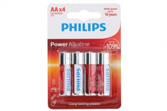 Baterie Philips AA(LR6) 1,5V 4ks na kartě Alkaline - Teddies