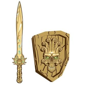 Meč a štít Fantasy lebka - HM Studio