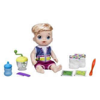 Baby Alive Blonďatý chlapec s mixérem - Hasbro Baby Alive