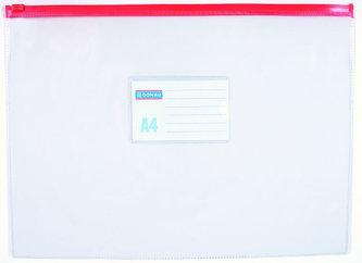 Obálka s plastovým zipem A4 PVC, transparentní - Donau
