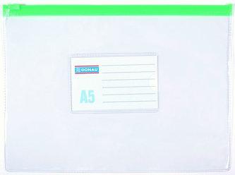 Obálka s plastovým zipem A5 PVC, transparentní - Donau
