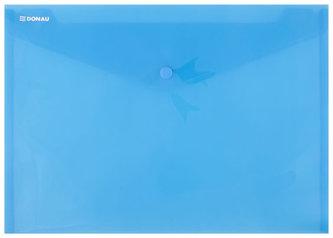 Obálka s drukem průhledná A4 PP, modrá - Donau