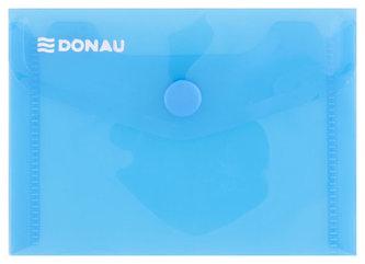 Obálka s drukem průhledná A7 PP, modrá - Donau