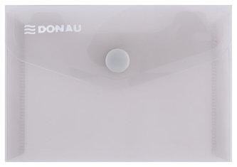 Obálka s drukem průhledná A7 PP, kouřová - Donau