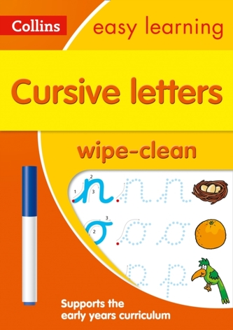 Cursive Letters Age 3-5 Wipe Clean Activity Book - Collins Easy Learning