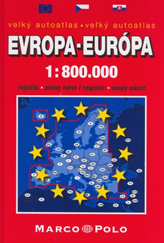 Velký autoatlas Evropa-Európa 1:800 000