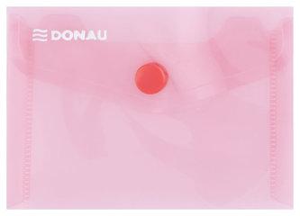 Obálka s drukem průhledná A7 PP, červená - Donau