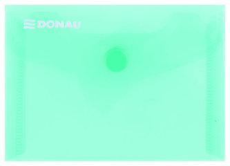 Obálka s drukem průhledná A7 PP, zelená - Donau