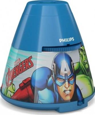 LED LAMPIČKA S PROJEKTOREM 2 v 1 Avengers 71769/35/P0 - Philips