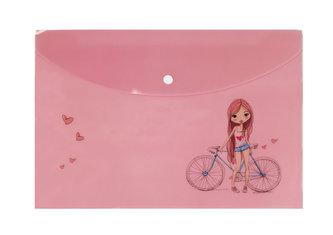 Happy Spirit - Pouzdro na dokumenty A4: Dívka s kolem